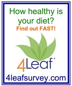 This powerful tool is the heart and soul of our 4Leaf concept of healthy eating. Click the image to take survey online in less than 2 minutes.